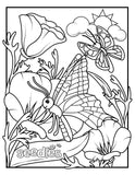 Bee Coloring Book Page #4 - Butterfly