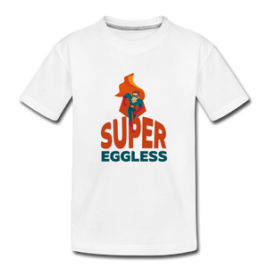 Super Eggless - Toddler Boy T-Shirt - white