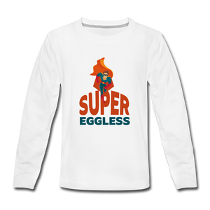 Super Eggless - Boy Long Sleeve T-Shirt - white