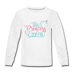 This Princess Is Eggless - Girl Long Sleeve T-Shirt - white