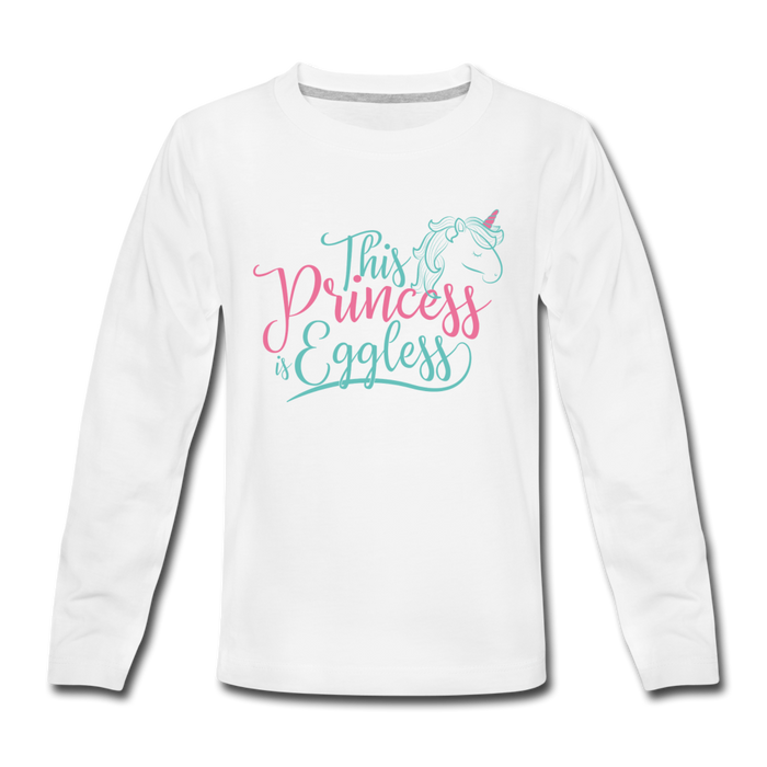 This Princess Is Eggless - Girl Long Sleeve T-Shirt