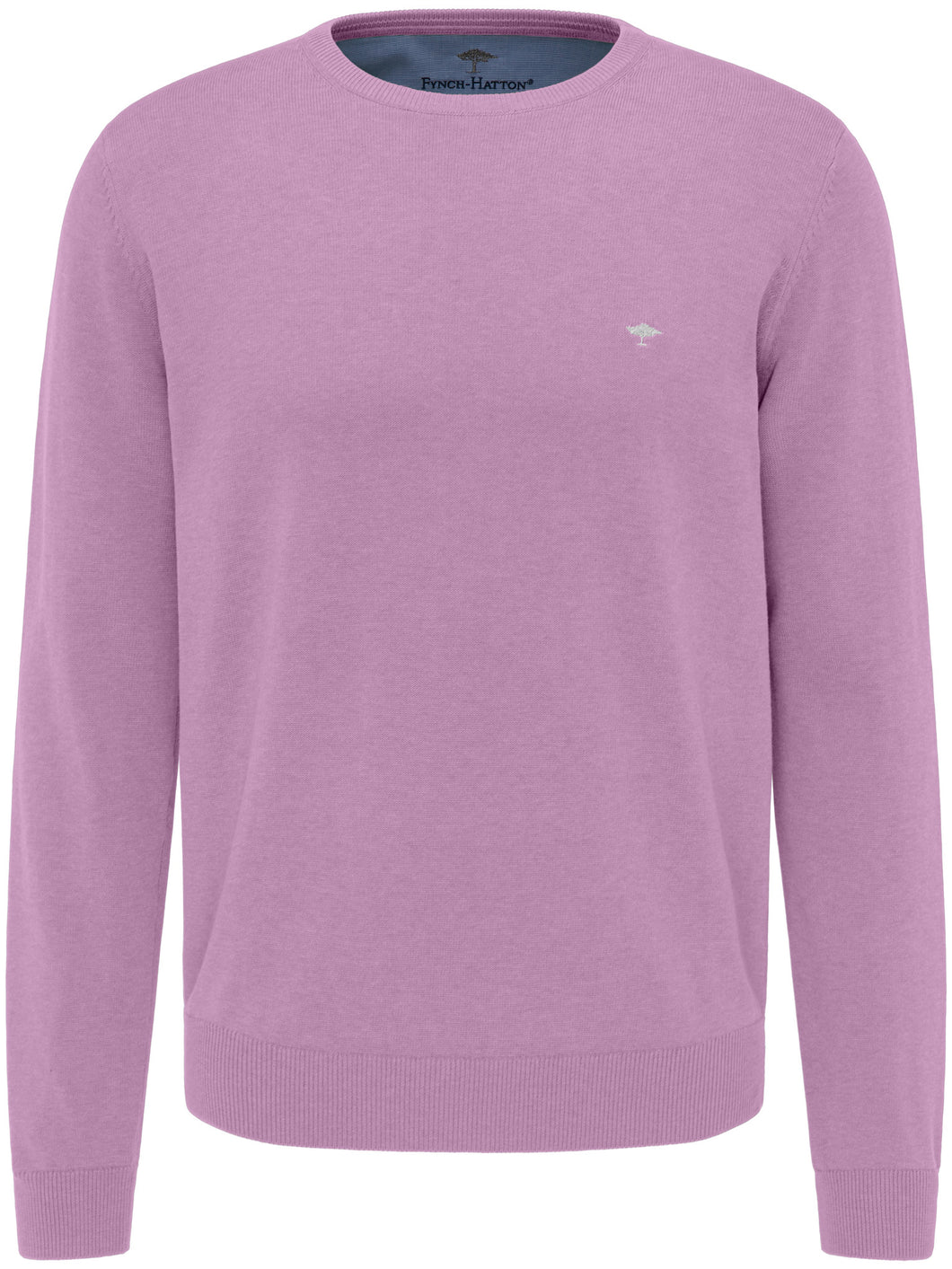 Fynch Hatton O-Neck in regular Classic fit.    Chosen in  Lavender