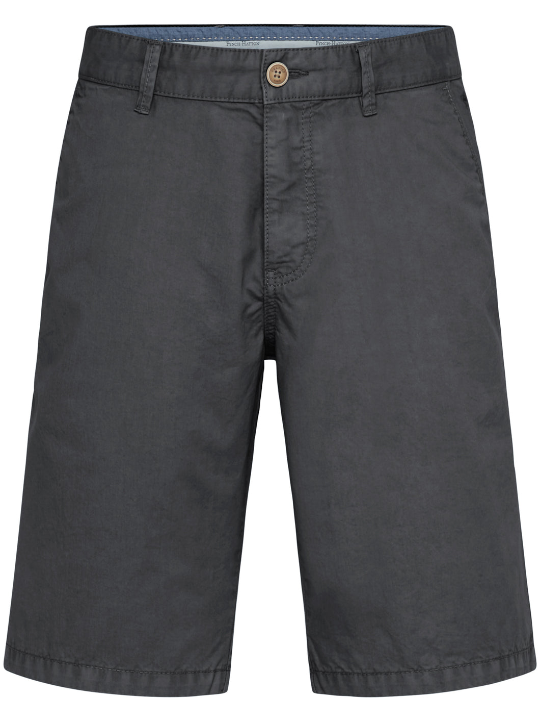 Fynch Hatton Shorts, Cotton, Garment Dyed in regular Classic fit.    Chosen in  Charcoal