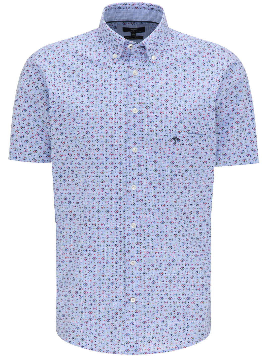 Fynch Hatton Lightweight Summer Story, Button Down Collar, Long Sleeve in regular Classic fit.    Chosen in  Multicolour