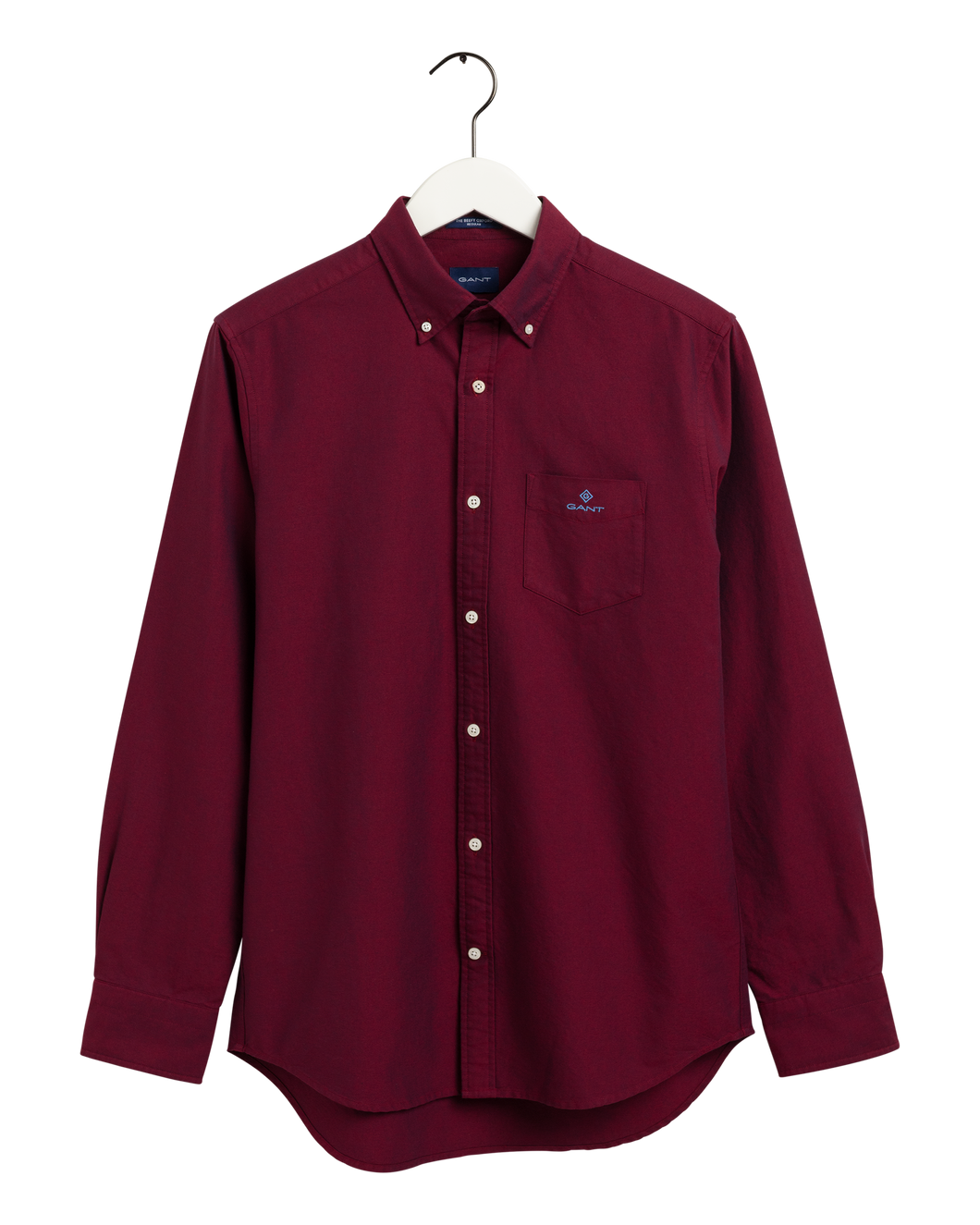 Gant Shirt in regular classic fit. Beefy Oxford Shirt Reg  , chosen in a Mahogny Red colour