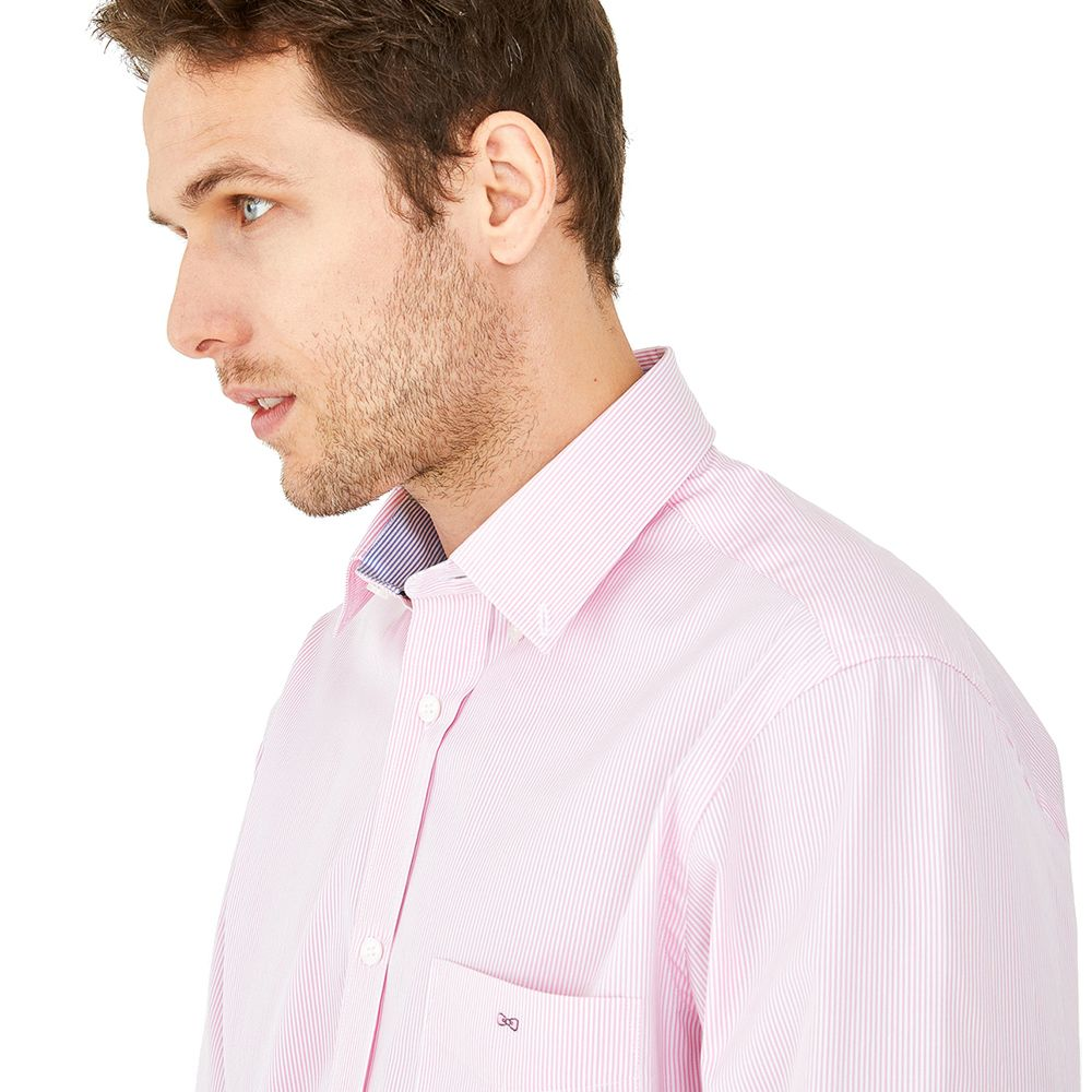 Eden Park Shirt in regular classic fit.    chosen in a pink stripe colour