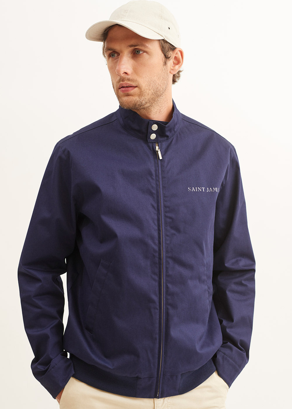 Saint James Jacket In Regular Classic Fit. St Daniel   Chosen In A Marine Colour