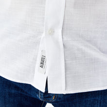Load image into Gallery viewer, Eden Park Short Sleeve Shirt in regular classic fit.    Chosen with this White soft effect