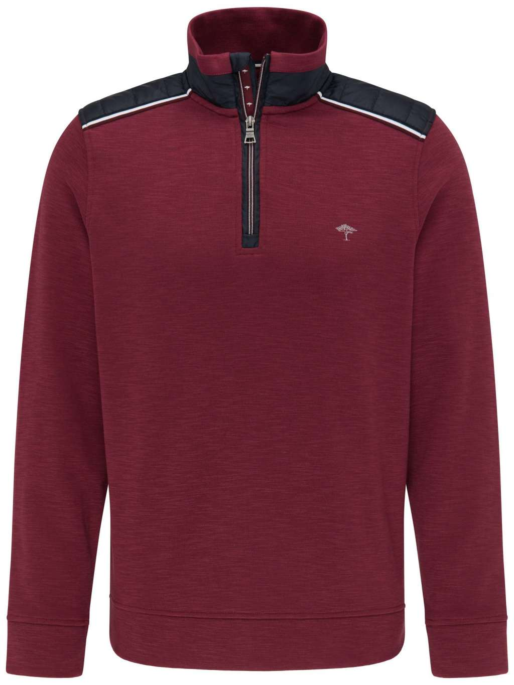 Fynch Hatton Knitwear in regular classic fit. Half-Zip, Hybrid  chosen in a Merlot colour