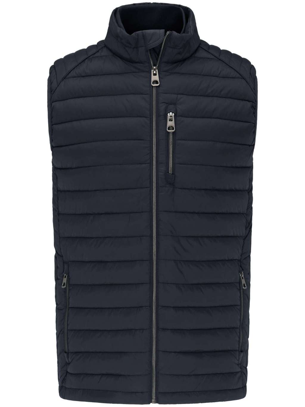Fynch Hatton Jacket in regular classic fit. Downtouch Vest, Lightweight chosen in a Navy colour