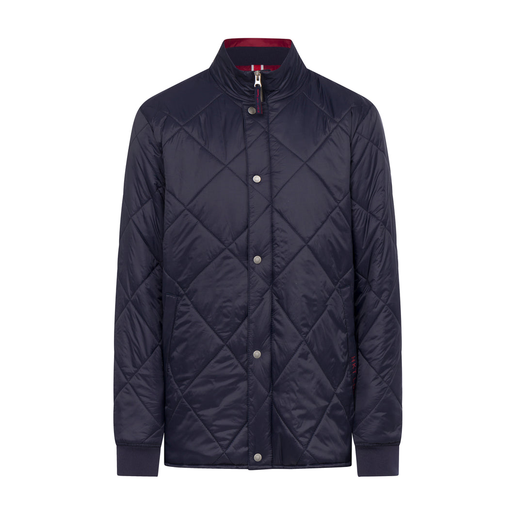 Hackett HKT Jacket in regular classic fit.   Quilted Jacket   chosen in a Navy colour