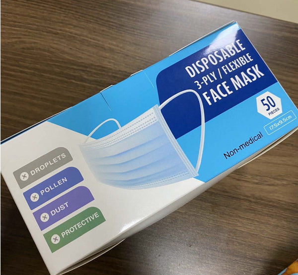 Three Layer Disposable Masks (50pc/box) As low as $0.10 each