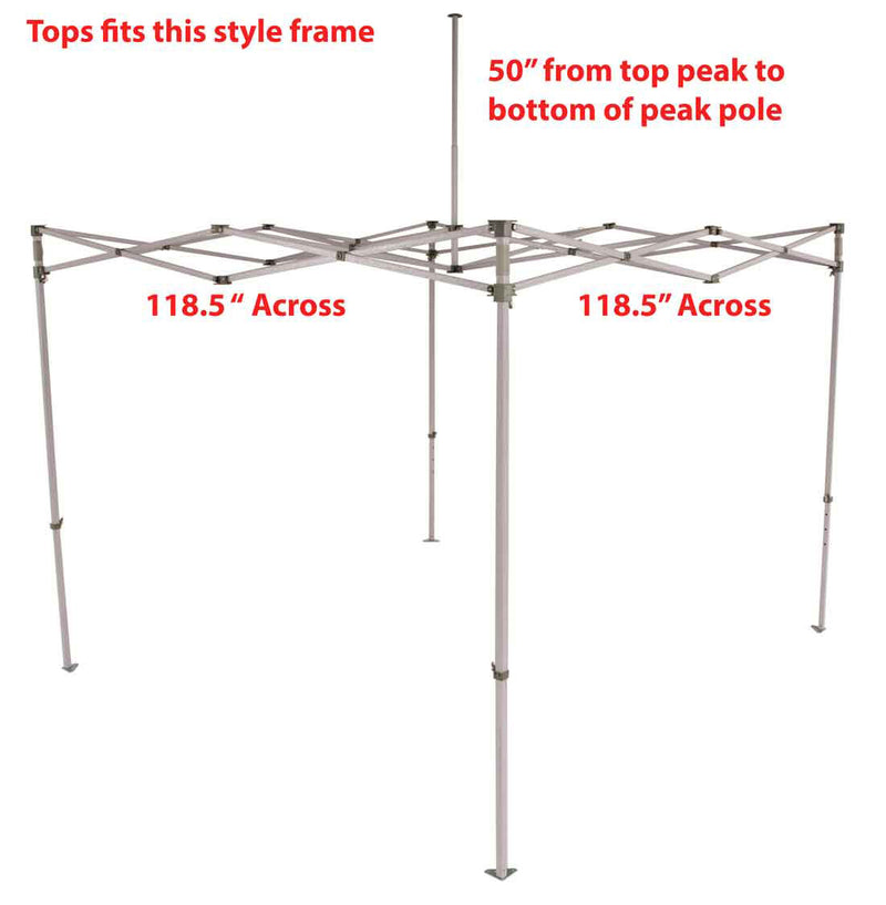 Impact Canopy 10 x 10 Canopy Replacement Top (Select Color)