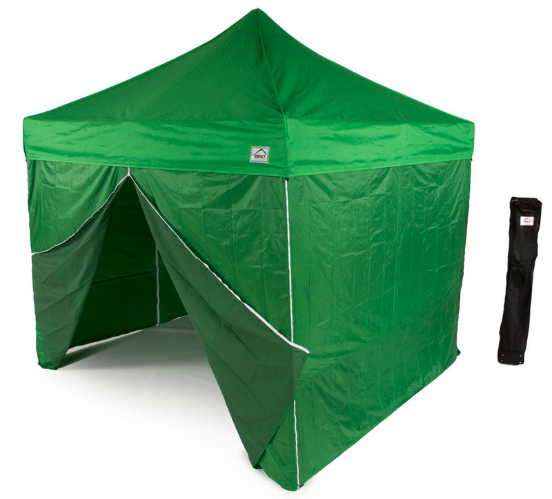10 x 10 Pop up Canopy Tent, Aluminum Frame, with leg weights and Roller Bag