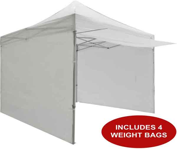 10 x 10 Pop Up Canopy Tent with Sidewalls, Weight Bags and Awning