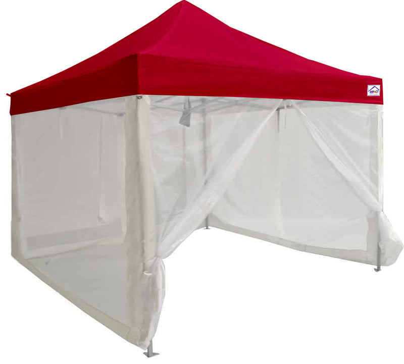 10 x 10 Pop up Canopy Tent, Aluminum Frame, with Sidewalls, Screen walls and Roller Bag
