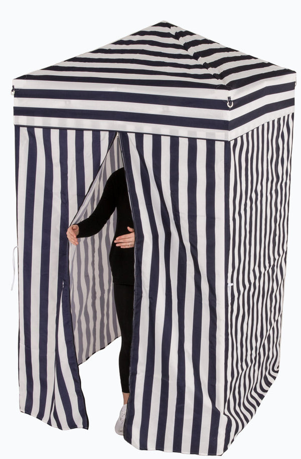 4x4 Privacy Cabana Pop up Canopy Tent Changing Room, Navy / White