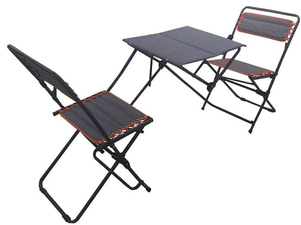Impact Canopy 3 Piece Picnic Style Bistro Set, Folding Outdoor Furniture Set, Camping Table and Chair Set