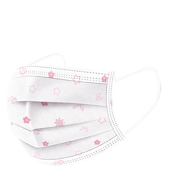 Pink Children's Three Layer Disposable Masks (20pc/box) As low as $0.27 each