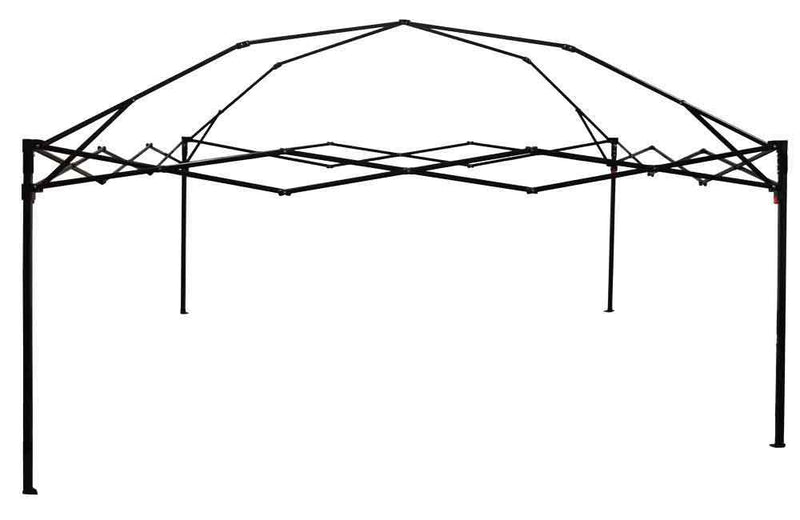 Impact Canopy 10 x 10 HW Pop Up Canopy Tent, Black Steel Frame with Roller Bag