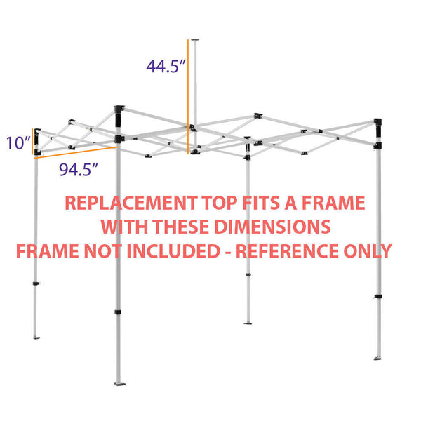 Impact Canopy 8 x 8 Canopy Replacement Top (Select Color)