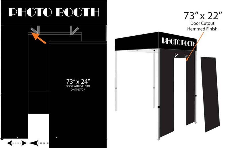 Pop Up Canopy Portable Photo Booth, Outdoor Gazebo Canopy Tent