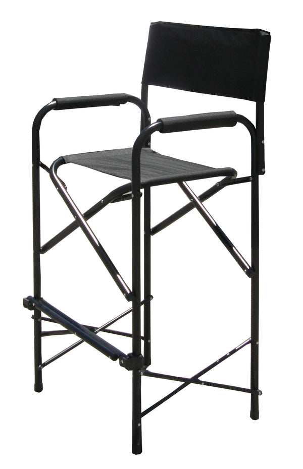 Impact Canopy Tall Folding Director's Chair, Heavy Duty, Aluminum Frame Chair, 47 Inch, Set of 2, Black