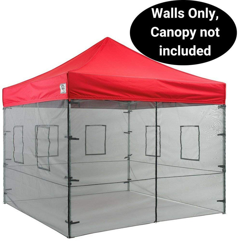 10 x 10 Mesh Side Wall Kit with Food Service Windows, 4 Walls Only