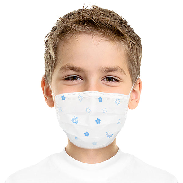 Blue Children's Three Layer Disposable Masks (20pc/box) As low as $0.27 each