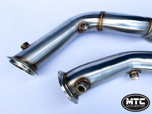 MTC Motorsport Stainless Steel Decat Downpipes Exhaust Pipe For BMW M3 F80