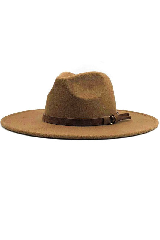 Wide Brim Felt Hat - Tan