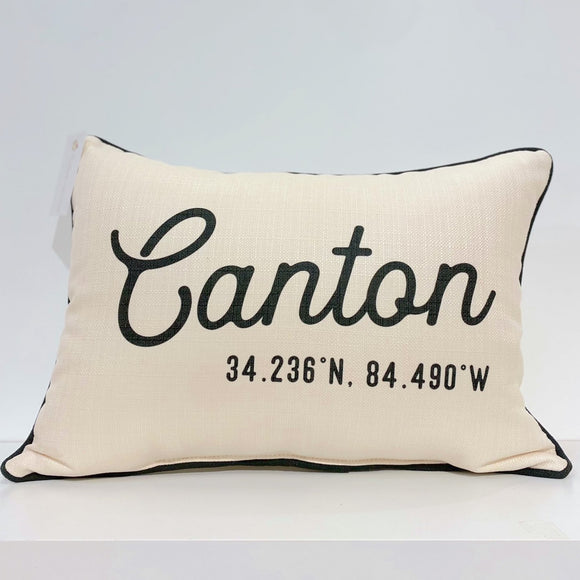 Canton City Pillow - Piping
