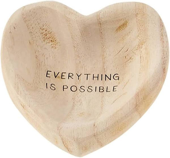 Wooden Heart Trinket Tray - Possible