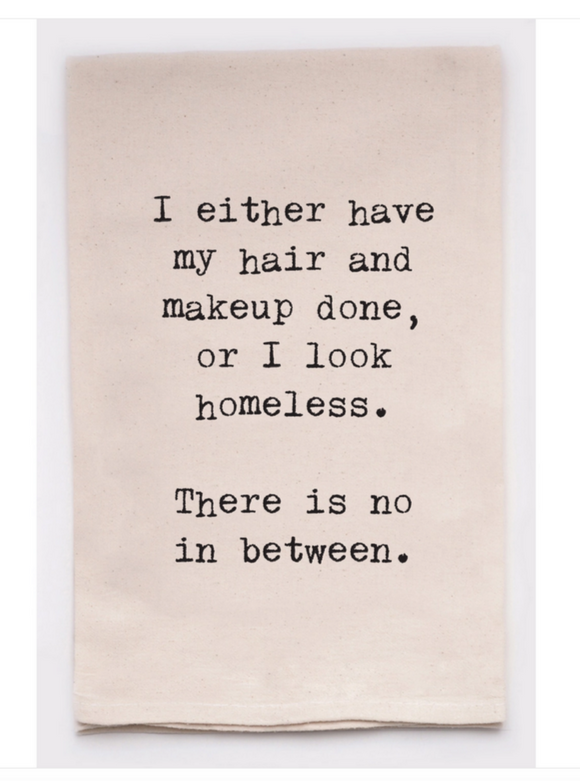 Homeless or Make Up Funny Towel