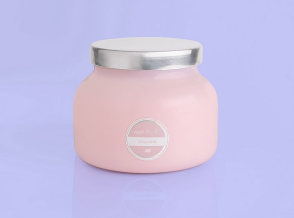 Volcano Signature Jar Candle - Pink