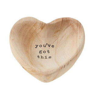 Wooden Heart Trinket Tray - Got This