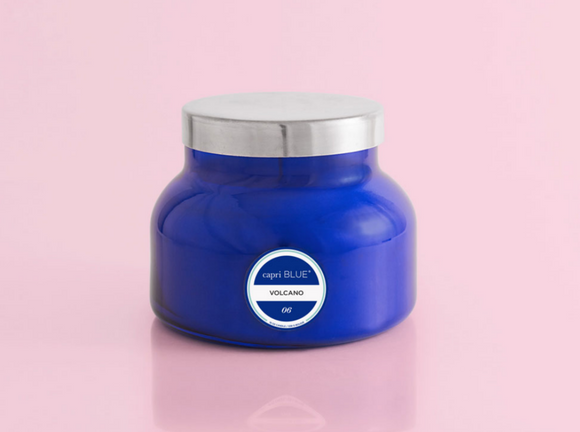 Volcano Signature Jar Candle - Blue