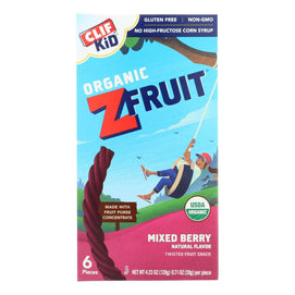 Clif Bar Organic Kid Twisted Fruit Rope - Mixed Berry - Case Of 6 - 0.7 Oz.