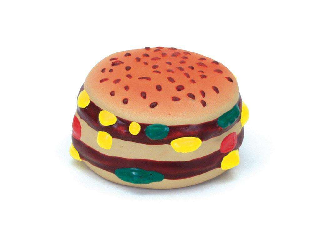 Coastal Rascals Latex Toy hamburger 2.5in
