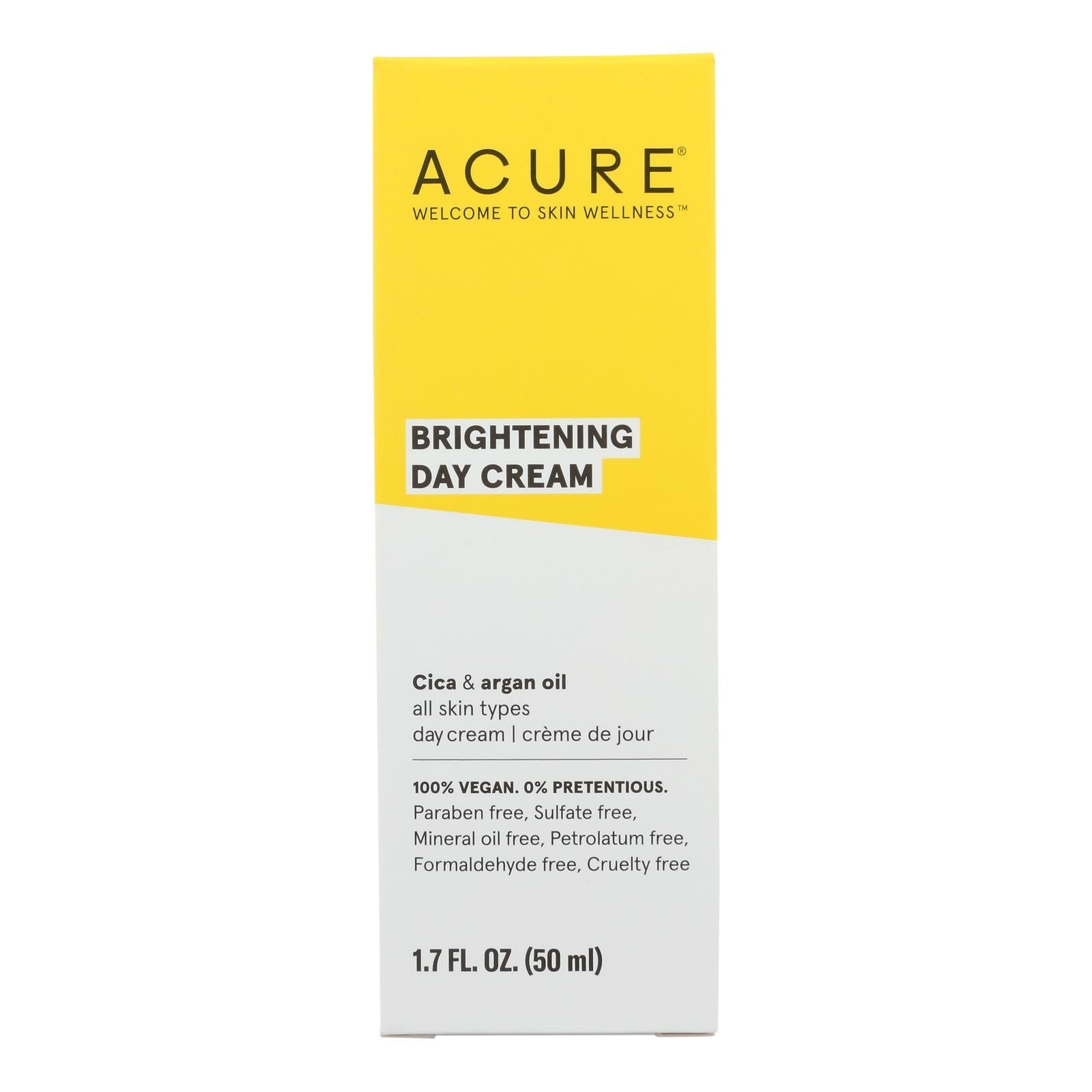 Acure - Day Cream - Gotu Kola Extract And Chlorella - 1.75 Fl Oz. - BeeGreen