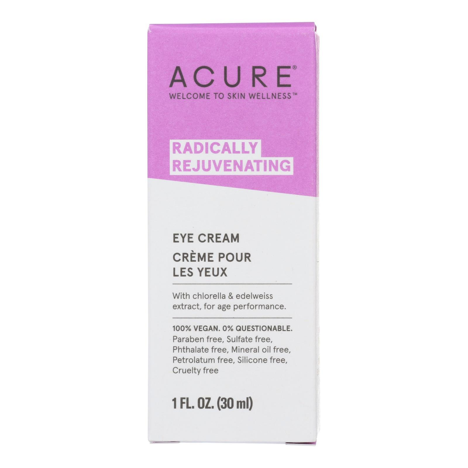 Acure - Eye Cream - Chlorella And Edelweiss Stem Cell - 1 Fl Oz. - BeeGreen