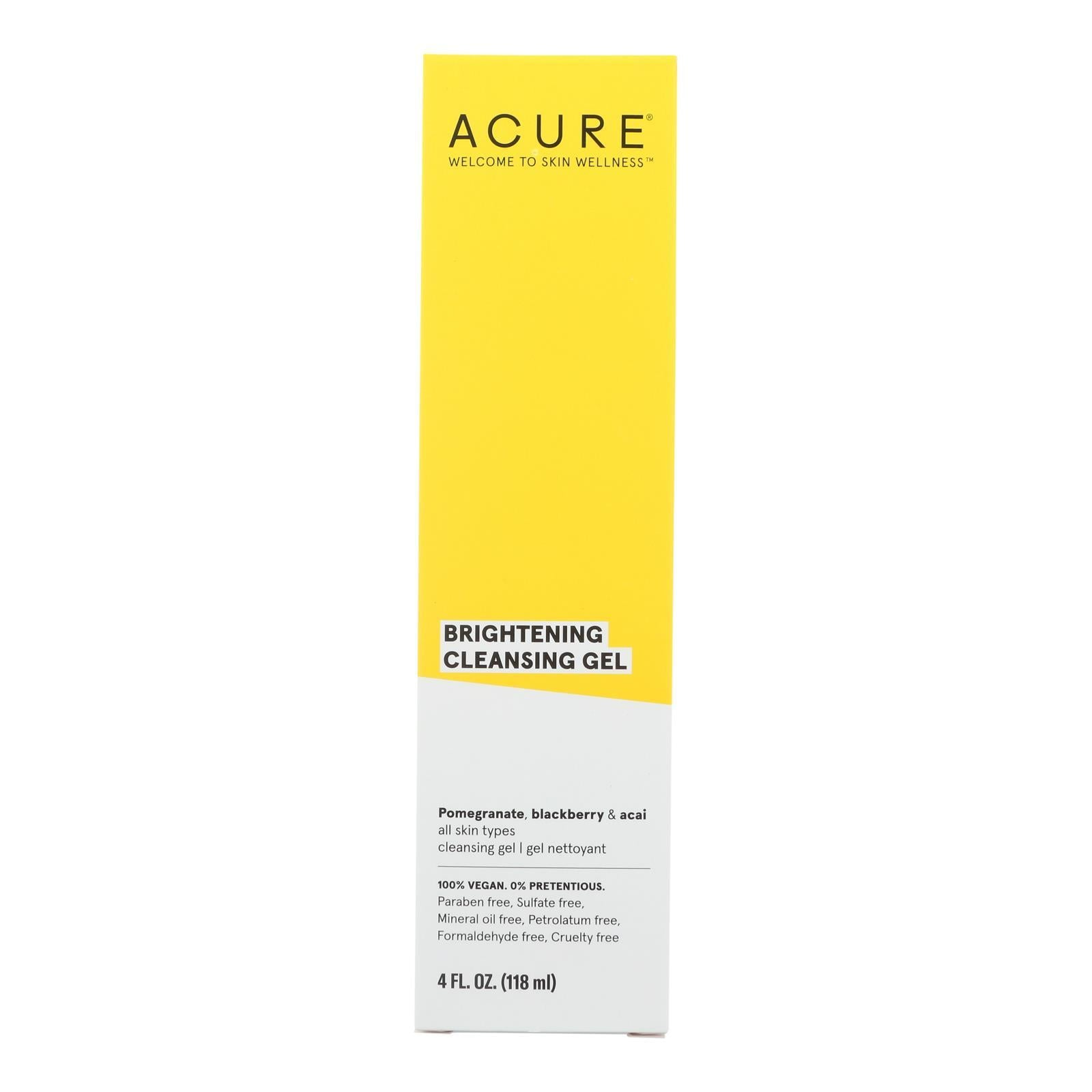 Acure - Facial Cleansing Gel - Superfruit And Chlorella - 4 Fl Oz. - BeeGreen