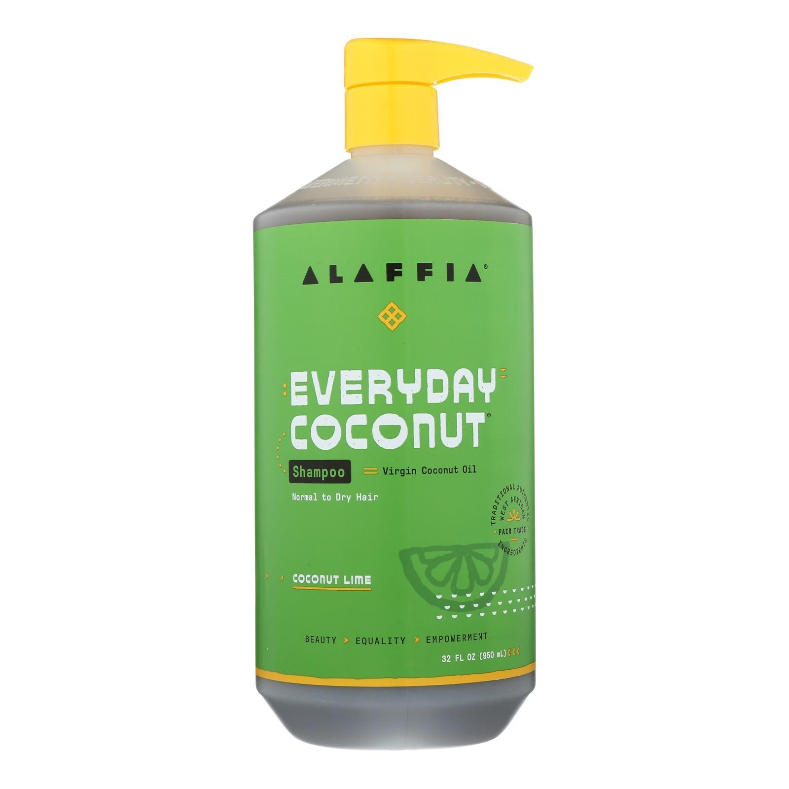 Alaffia - Everyday Shampoo - Coconut Lime - 32 Fl Oz. - BeeGreen