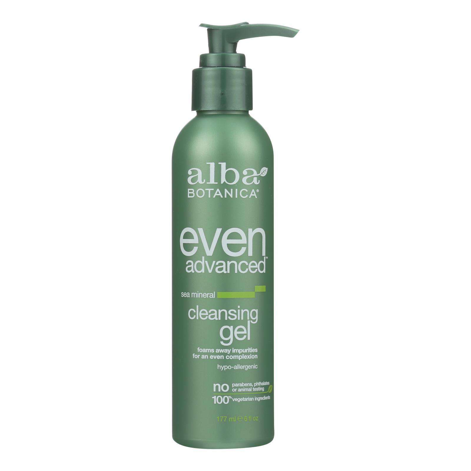 Alba Botanica - Natural Even Advanced Sea Mineral Cleansing Gel - 6 Fl Oz - BeeGreen