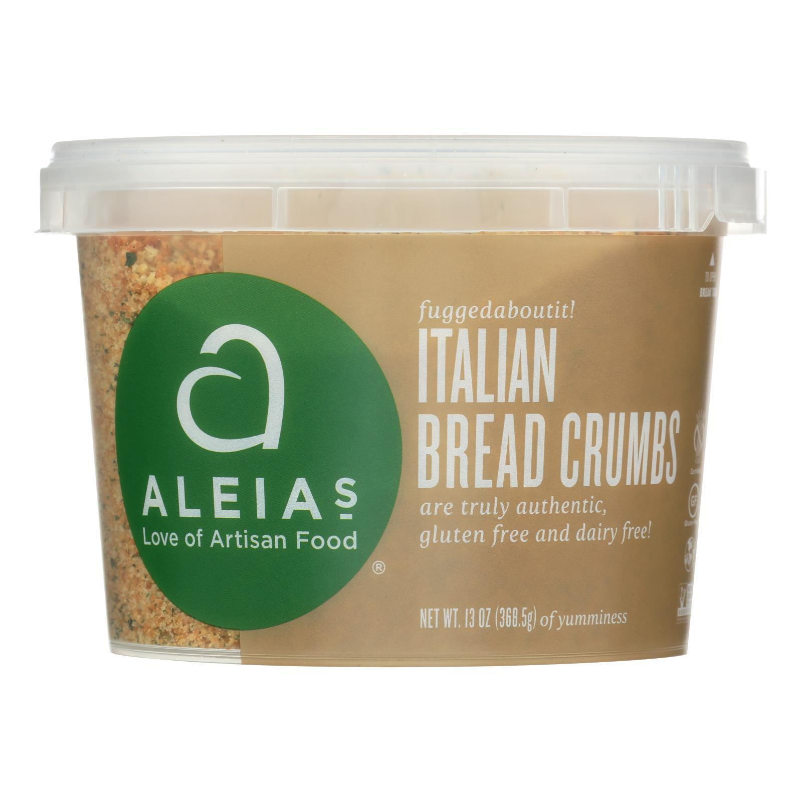 Aleia's - Gluten Free Bread Crumbs - Italian - Case Of 12 - 13 Oz. - BeeGreen