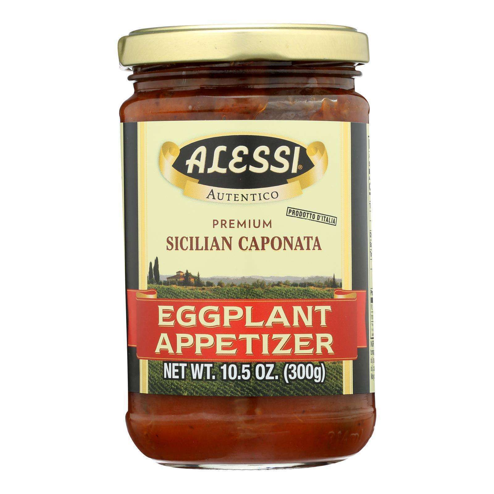 Alessi - Eggplant Appetizer - Caponata - Case Of 12 - 10.5 Oz. - BeeGreen