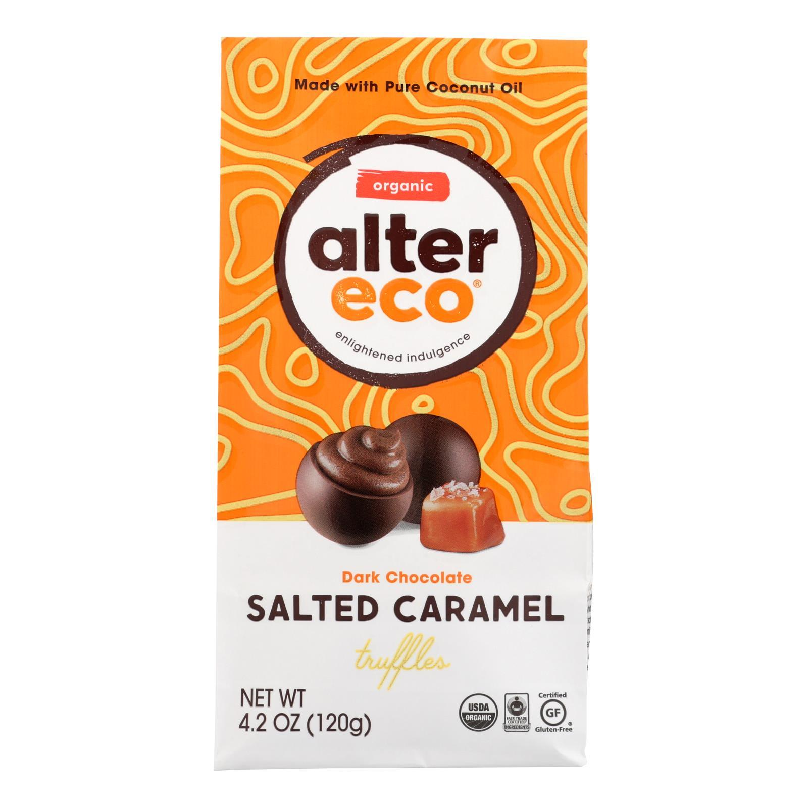 Alter Eco Americas Truffles - Salted Caramel - Case Of 8 - 4.2 Oz. - BeeGreen