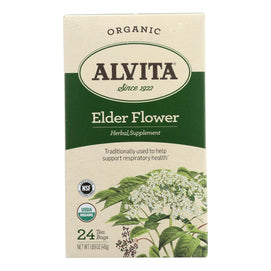 Alvita - Tea Og1 Elder Flower - Ea Of 1-24 Bag - BeeGreen