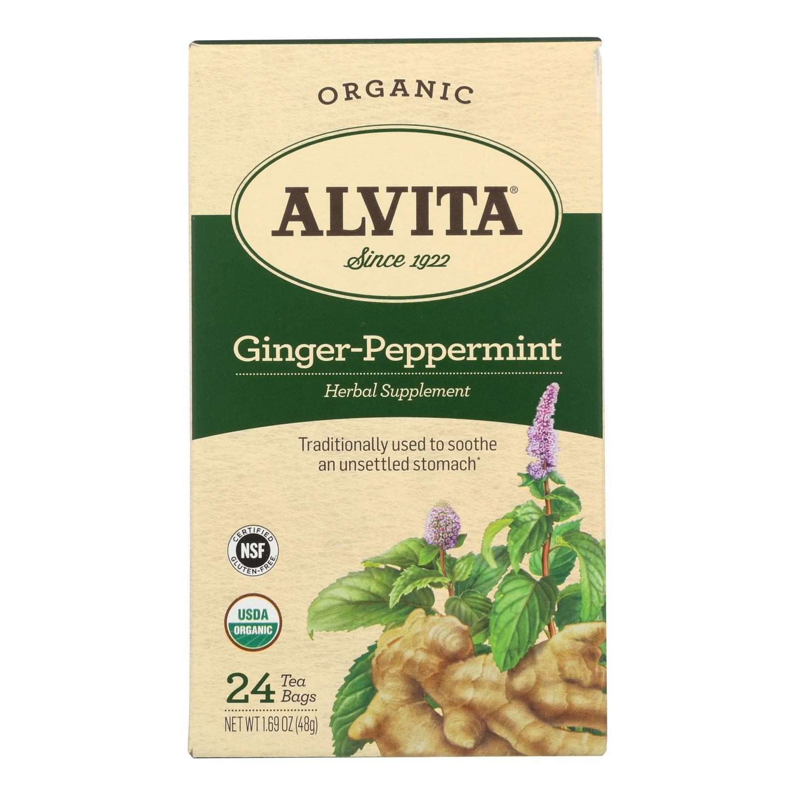 Alvita - Tea Og1 Herbal Gngr Ppmnt - Ea Of 1-24 Bag - BeeGreen