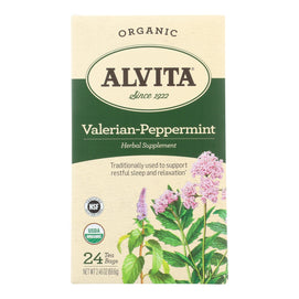 Alvita - Tea Og2 Valerian Pprmnt - Ea Of 1-24 Bag - BeeGreen